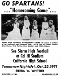 Homecoming Edition 1971 Sword & Shield