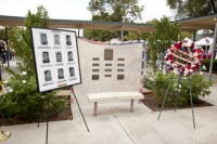 Re-dedication ceremony.  Plaques were added with original dedication date of      Feb 25, 1970 and re-dedication date of